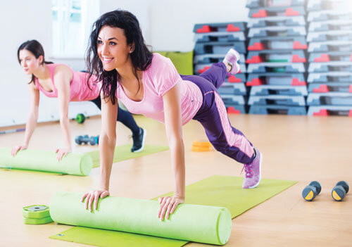 Stretches with Foam Roller