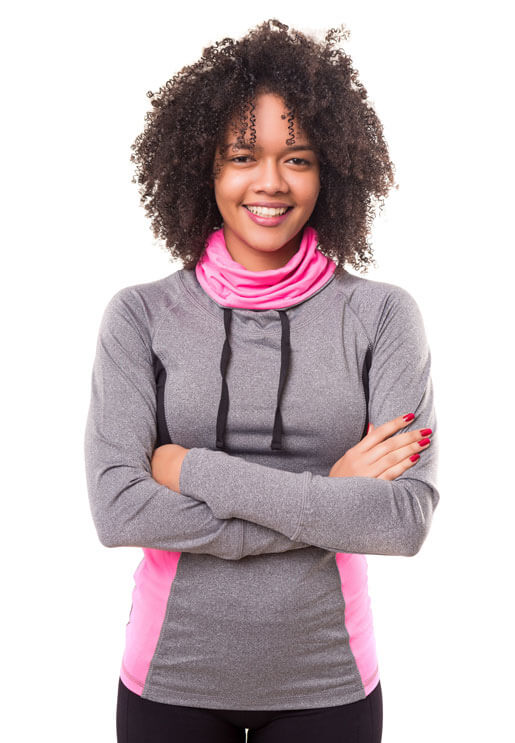 Marathon-Fitness-cheerful-women-pink-and-grey-sweater