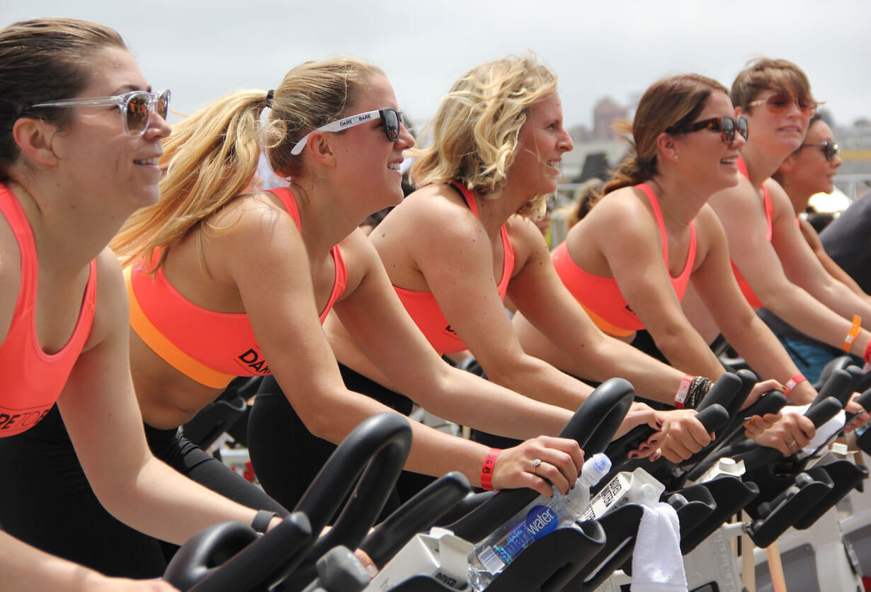 Marathon-Fitness-women-spinning