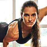 Marathon-Fitness-Women-lifing-herself